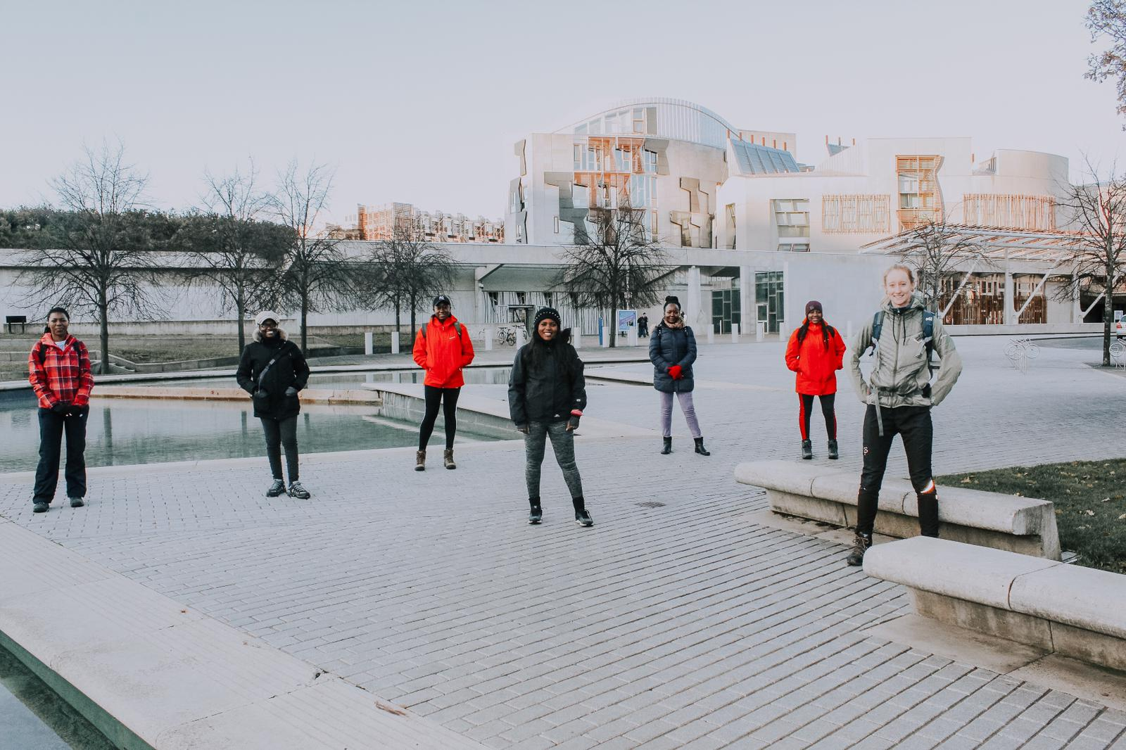 Walking group at Parliament